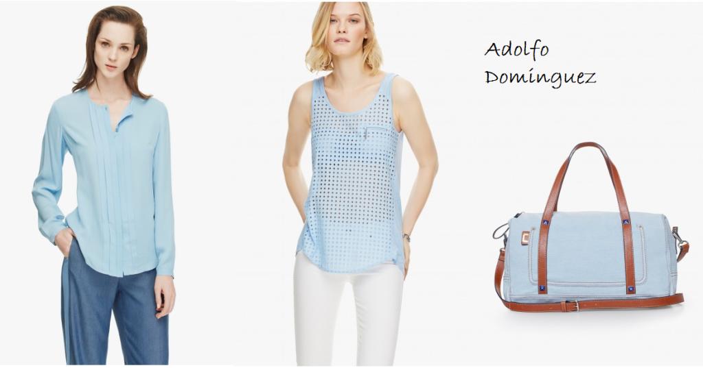 Azul cielo celeste claro beb con tacones y corbata for Adolfo dominguez web corporativa