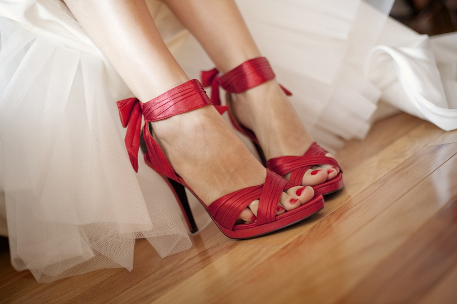 red shoes for wedding zapatito de cristal con tacones y corbata 7011