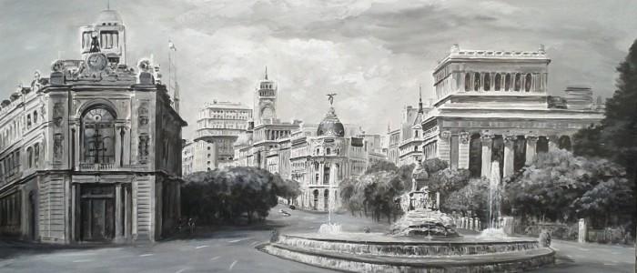 Cuadro_Madrid_Cibeles_Blanco_y_Negro