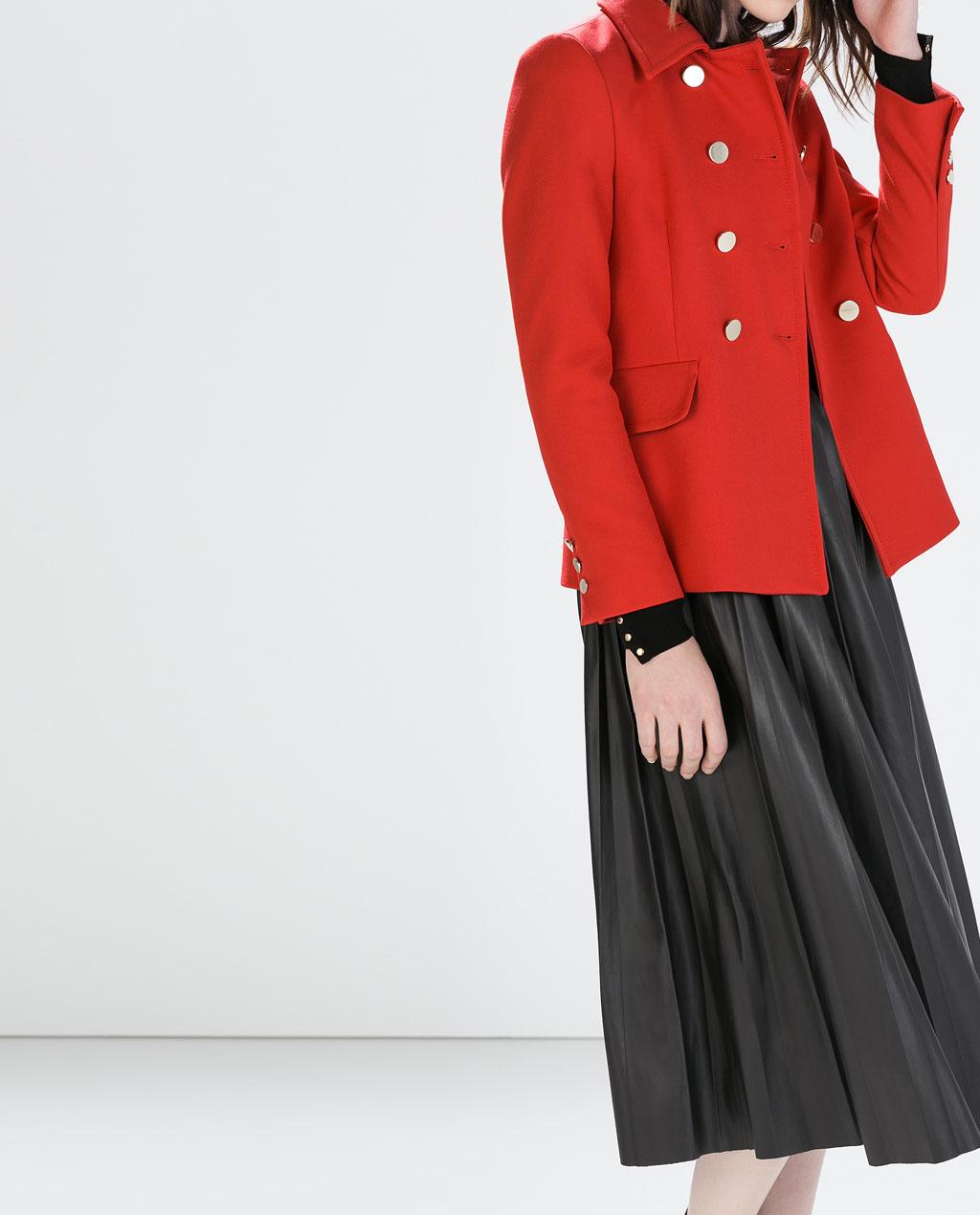abrigo corto con doble botonadura 6950