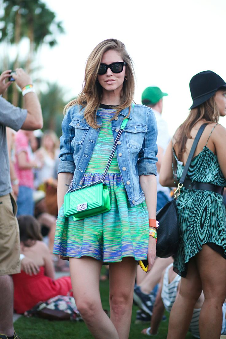 Chiara-Ferragani-in-green-and-blue-at-Coachella-2014