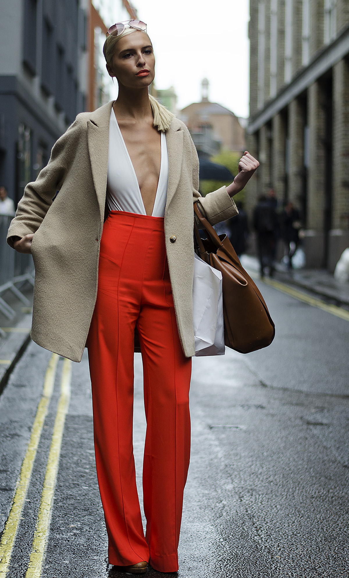 London-Fashion-Week-2015-LFW-SS16-Zoe-Basia-Brown-Street-Style-Brewer-Street-Car-Park-Soho