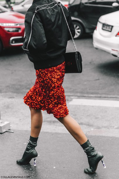 xhwjyl-l-610x610-skirt-tumblr-fashion+week+2017-streetstyle-midi+skirt-red+skirt-pencil+skirt-sequins-sequin+skirt-boots-ankle+boots-sock+boots-high+heels+boots-silver-silver+boots-jacket-black+jac