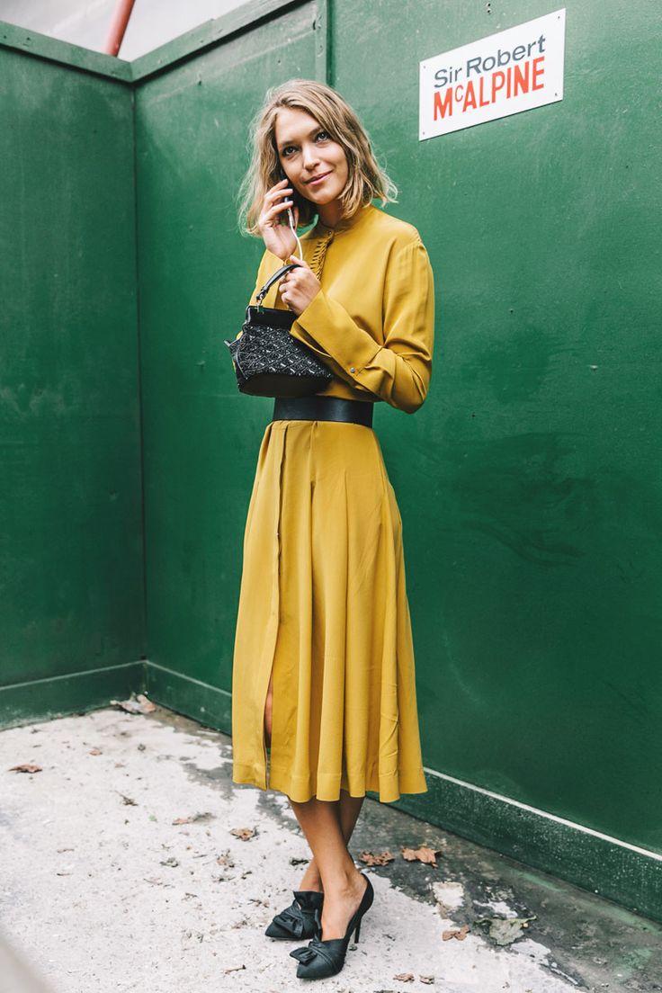 fd56e1f83fd0f9604e392193899ea963--yellow-midi-dress-mustard-yellow-dresses