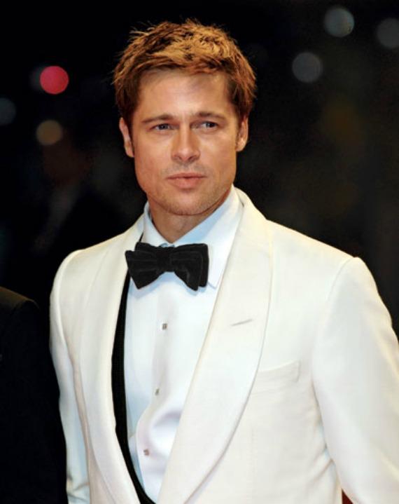 Brad Pitt - White tuxedo - London Blogger