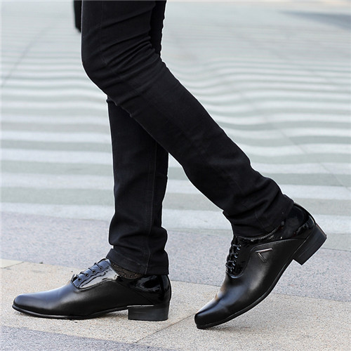 Korean-2015-Spring-Leather-Oxford-Shoes-White-Black-Classic-Shoes-Fashion-Black-Men-Pointed-Toe-Mens