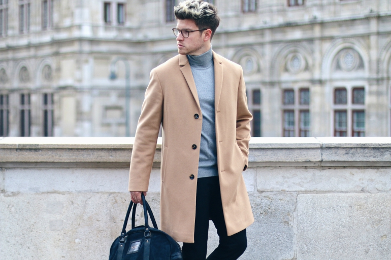 fascinating-camel-mens-coat-street-style-grey-roll-neck-jumper-black-trousers-home-design