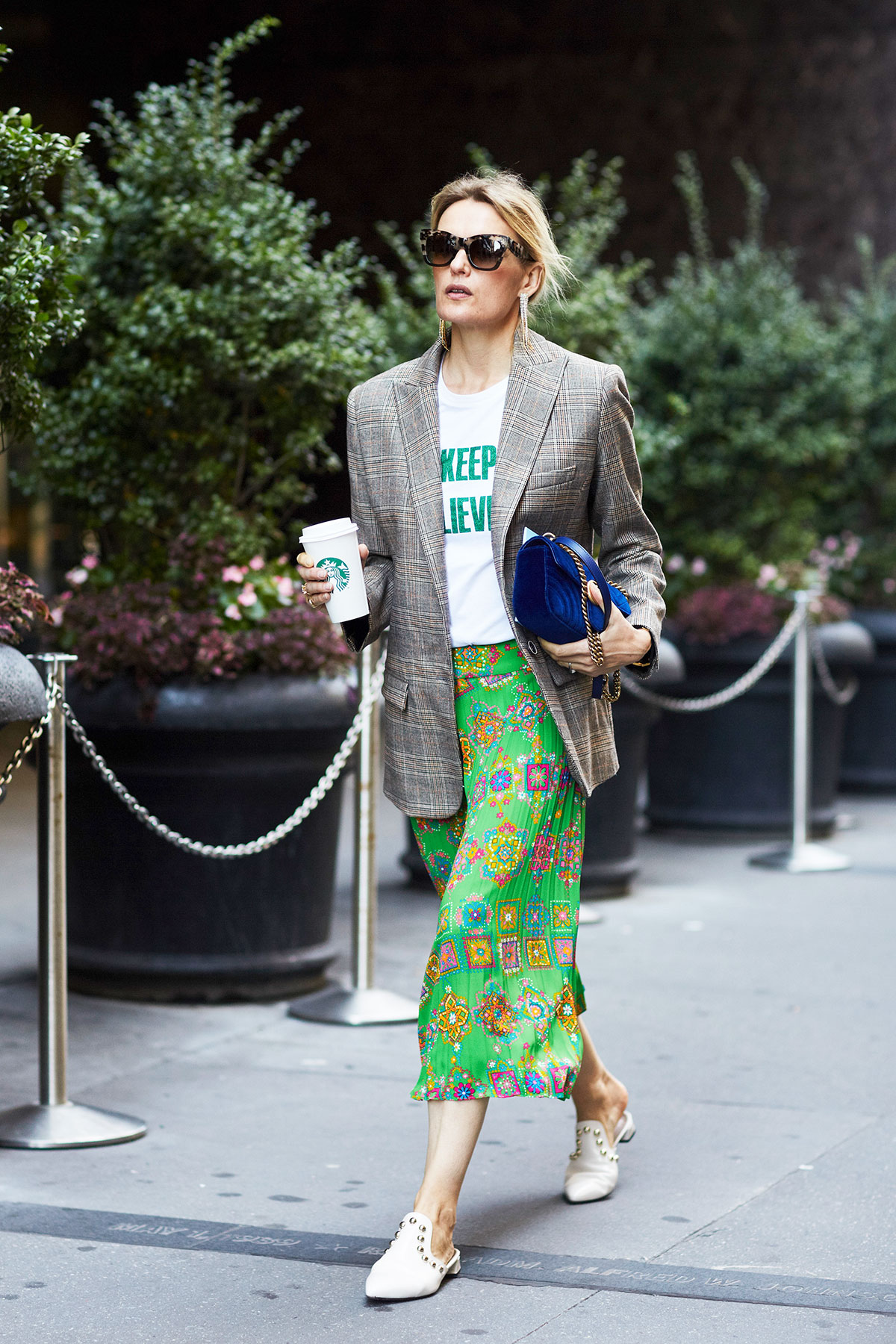 new-york-fashion-week-street-style-plaid-blazer-printed-midi-skirt